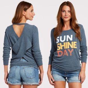 Chaser sunshine day cross back pullover